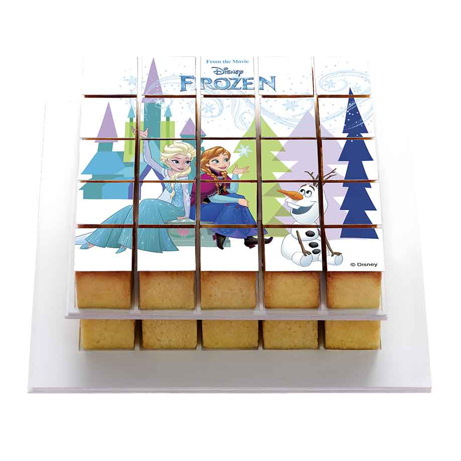 La Reine des neiges - Décor à gâteau gourmand - Pixcake the original...Le 1er Puzzle gourmand