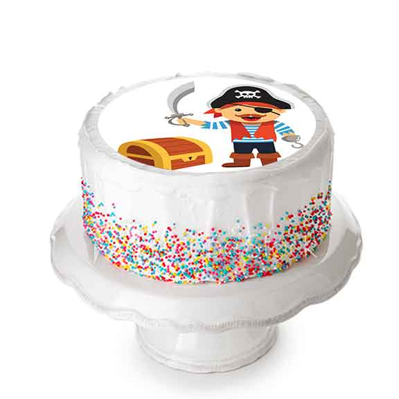 Pirate - Décor à gâteau gourmand - Pixcake the original...Le 1er Puzzle gourmand