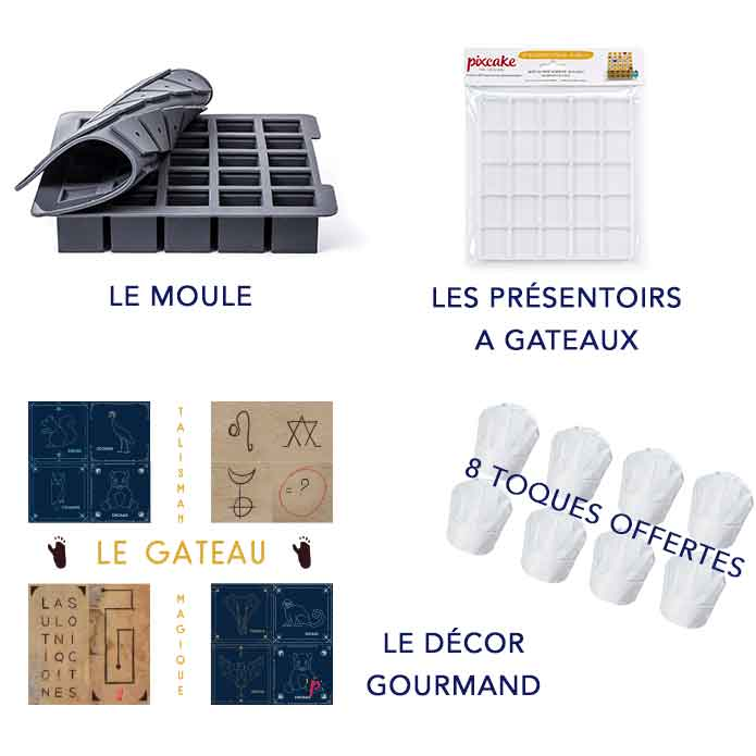 Kit Escape Game Talisman Magique - Box Gourmande Pixcake à -30% + code promo -30% Escape Game - Pixcake the original...Le 1er Puzzle gourmand