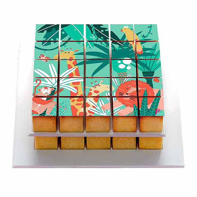 Pixdéco Jungle - Décor à gâteau gourmand - Pixcake the original...Le 1er Puzzle gourmand