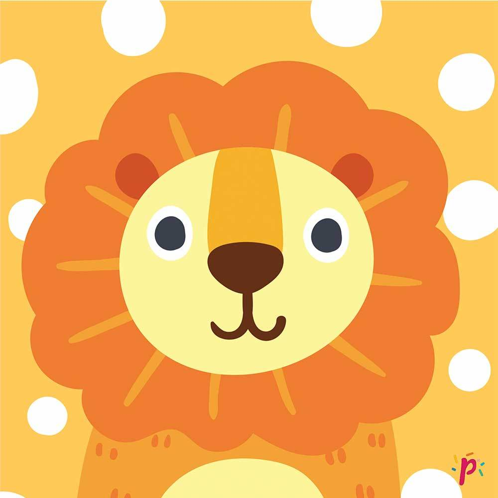 Pixdeco Lion-Beautiful sugar paste cake and good 25 m² pre-cut and printed! Pixdeco Pixcake