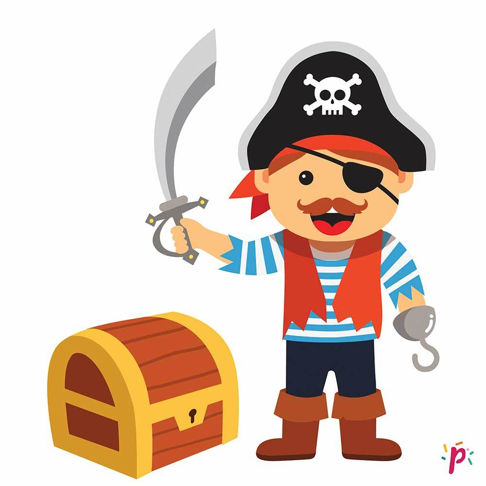 Pixdéco Pirate - Beautiful and good sugar paste cake decor with 25 pre-cut and printed squares! Pixdeco Pixcake