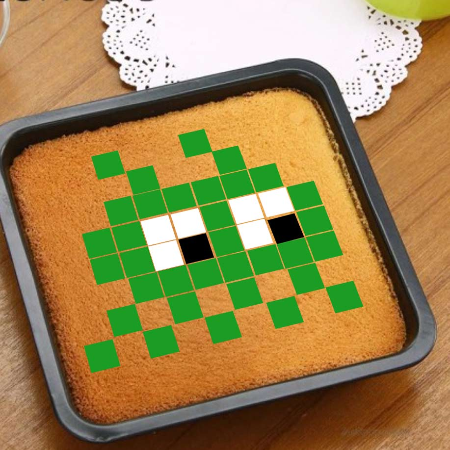 Space invader 2 - Rouge - Pixcake the original...Le 1er Puzzle gourmand