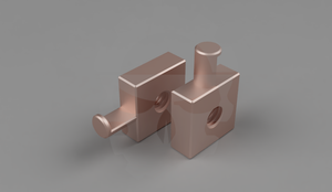 copper amplifier input ring terminal adapter
