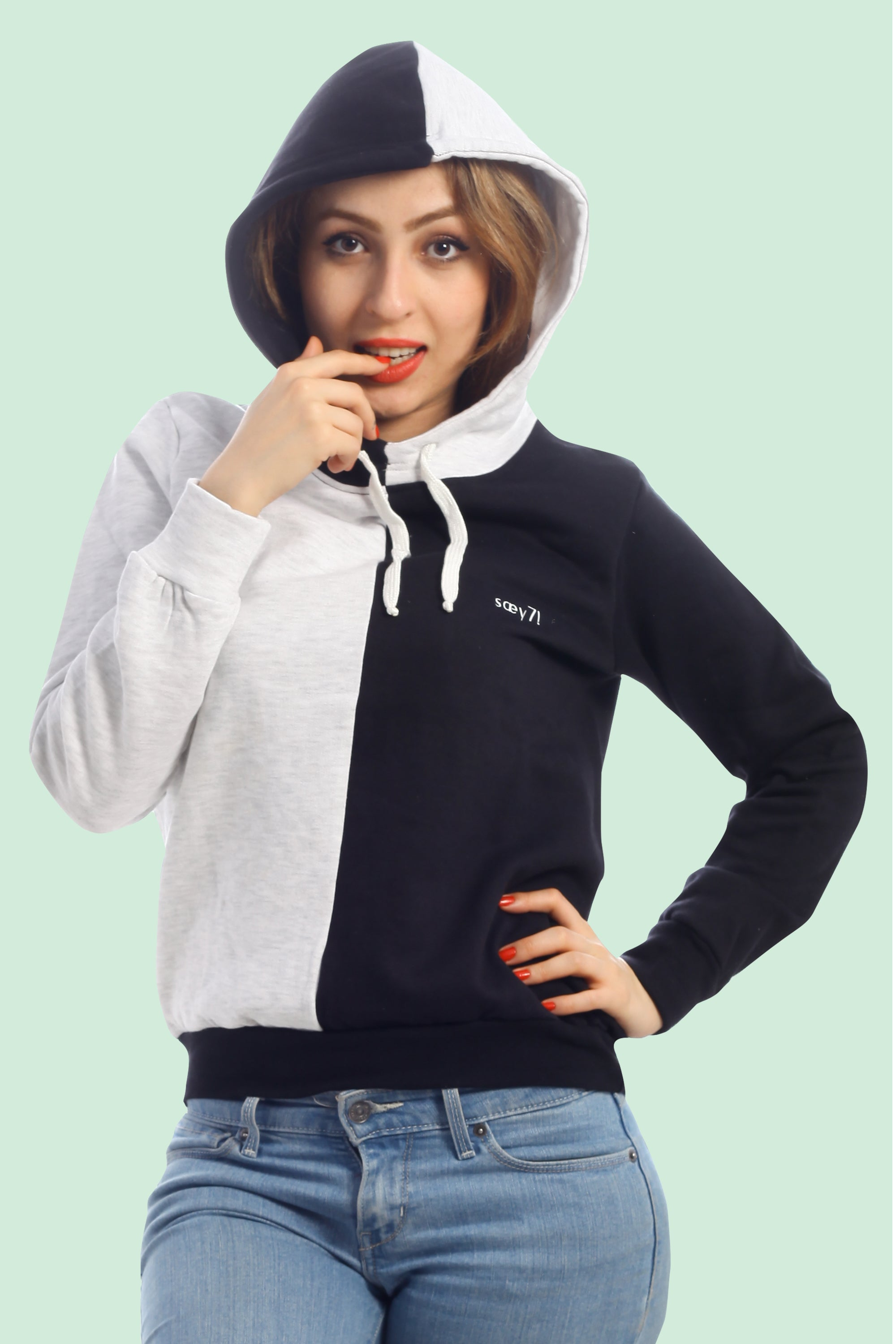 Rue SYDNEE - Black/Morning Grey Hoodie (UNISEX)