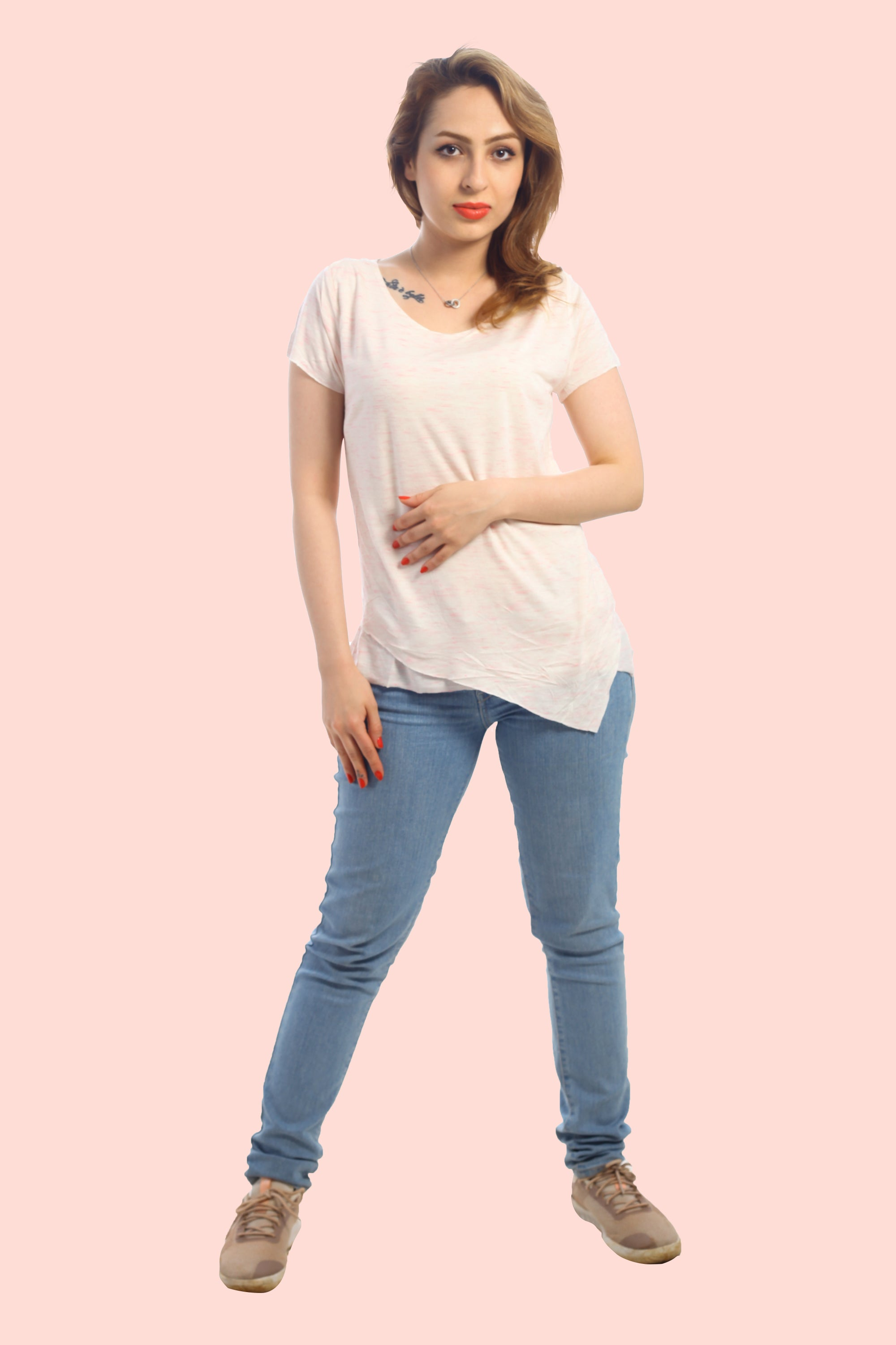 RUE CLARA - Coral White Raw Finished Top