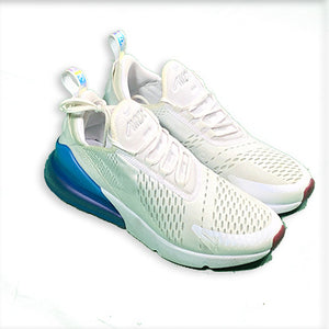 White and Blue AirMax Shoes