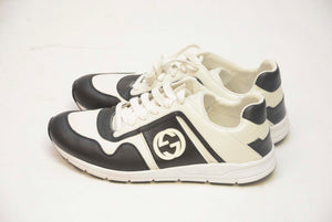 GUCCI BLACK & WHITE LOW TOP SHOE