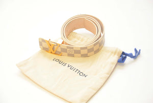 LOUIS LV WHITE BELT