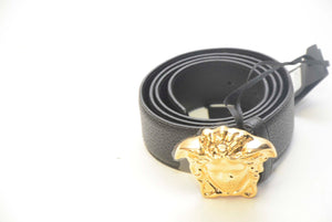 VERSACE BLACK BELT GOLD BUCKLE