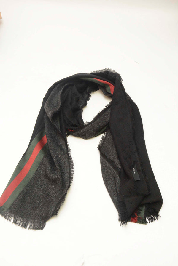 GUCCI RED & BLACK SCARF
