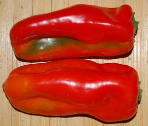 Pepper Sweet Red Marconi Organic Bulk Seeds - Capsicum Annuum