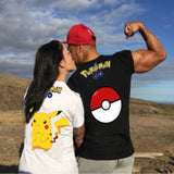 New Fashion Design Summer Pokemon Pikachu Short Sleeve Couple T shirt - minion.store