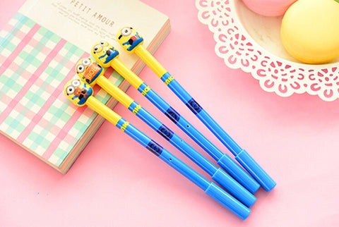 B42 4X Cute Kawaii Minions Gel Pen Stationery School Office Supplies Kids Gift Prize Rewarding Random - minion.store