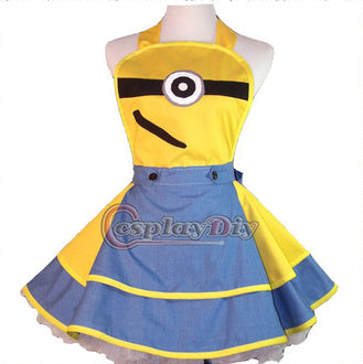 Customized Cute Despicable Me Minion Cosplay Apron Novelty Cosplay Pinafore - minion.store