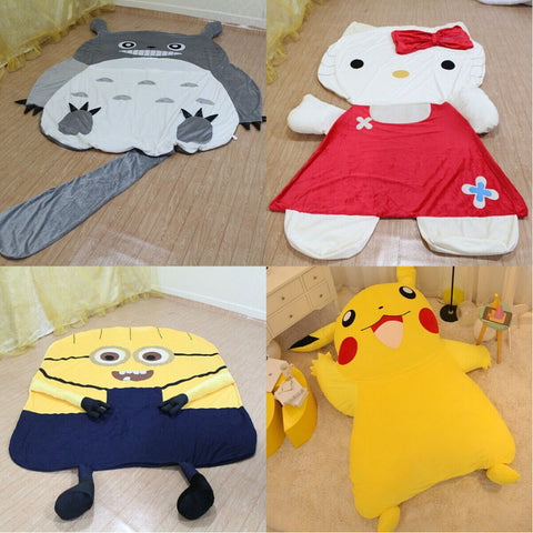 Large Cartoon Totoro Sleeping Bed Bag Holster Pikachu Kitty Cushion Cover Minion Sleeping Bed Mattress Cover - minion.store