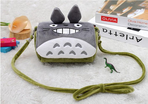 Plush Cartoon Animal Totoro Minions Women's Handbag - minion.store