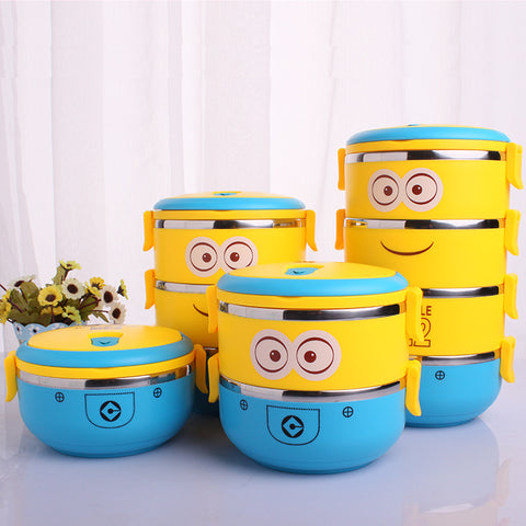 1-4 Layer Cute Cartoon Minion Lunch Bento - minion.store