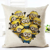 Minions Print Throw Pillow Square Cojines 9 Styles - minion.store