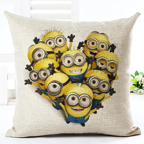 Minions Print Throw Pillow Square Cojines 9 Styles   Minion.store