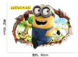 3D Sewer Minions  Wall Stickers Cartoon DIY Removable Wall Decals - minion.store