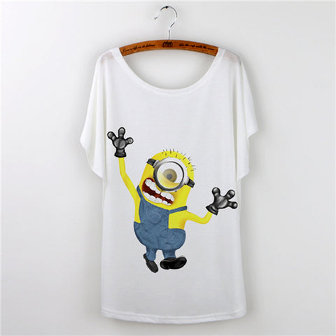 Cute Cartoon Minions T-Shirt Summer 13 Styles - minion.store