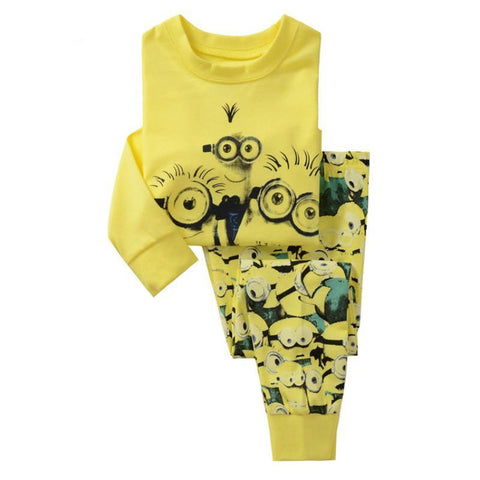 Clothing Sets Minions Yellow Size for 2 3 4 5 6 7 years - minion.store