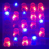 100pcs/lot Glow Yellow Badge Light Up Toy Led Flashing Minions - minion.store