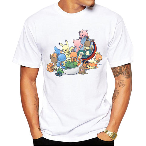 Fashion T-shirt Short Sleeve Pokemon Go 2 Styles - minion.store