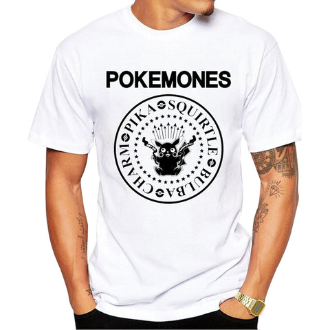 New Arrivals Men Fashion The Pokemones T-shirt Short Sleeve - minion.store
