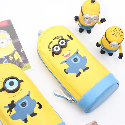 New Pencil Bag Pencil Case Cute Minions Waterproof School Supply Kidspencil 4Styles - minion.store