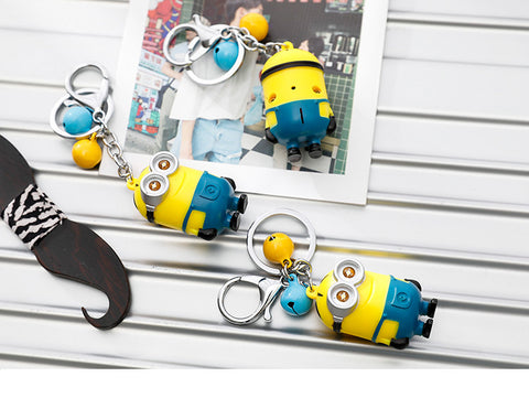 Cartoon Movie 3D minions Led keychain - minion.store