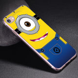 Cute Silicon Cover Yellow Minion Case For Apple - minion.store