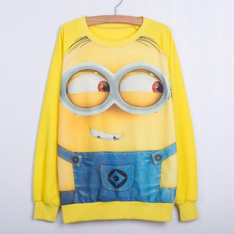 Minions Harajuku Long Sweatshirts Women - minion.store