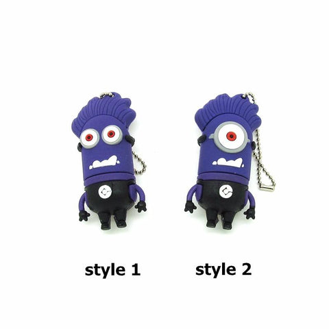 Hands Up Purple Poisoning Minions USB 4 8 16 32GB 2 Styles - minion.store