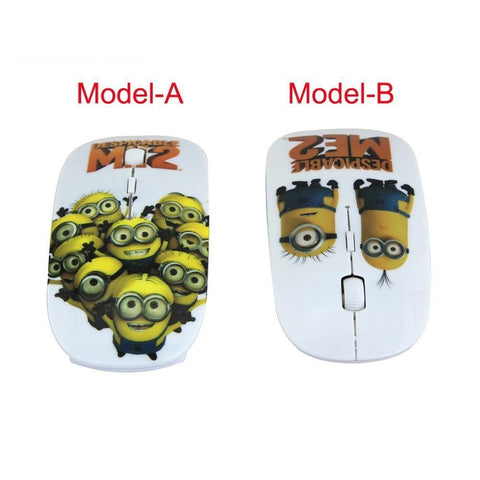 Wireless Mouse Minions 2.4Ghz 1600DPI 2 Styles - minion.store