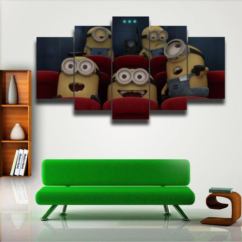 Printed Cartoon Despicable Me Minions Picture Painting 5 Panels/Set - minion.store