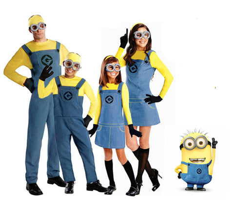 Minion Jumpsuit Clothes Despicable Me Cosplay Costumes Suits Boys/Girls Kids/Adult - minion.store