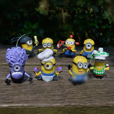 8pcs/lot Hot 5-7cm Mini Yellow Minion Toys Kids Cute Dolls - minion.store