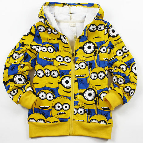 Autumn Winter Children Jackets Cotton Boys Jacket Fleece Girl Coat Minions Kids Clothes - minion.store