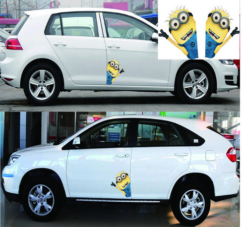 Car Stickers Minions Creative Cartoon Colorful Decals Waterproof  22*14cm D11 - minion.store