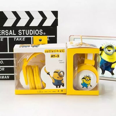 Lovely Cute Minions Stereo Folding Headband Headphone Foldable Headset - minion.store