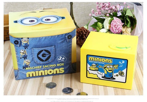 1 Pcs Cartoon Claw Steal Coin Minion Money Box Coins Piggy Bank - minion.store