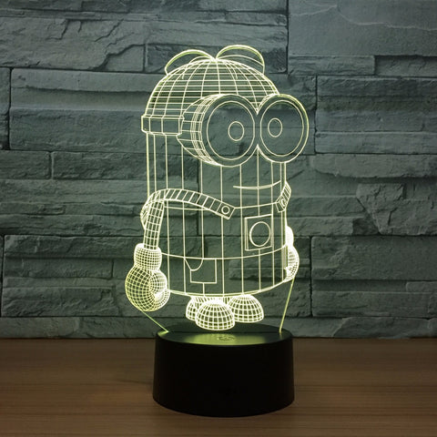 Minions 7 Colors Led Night Lights USB Table Lamp - minion.store