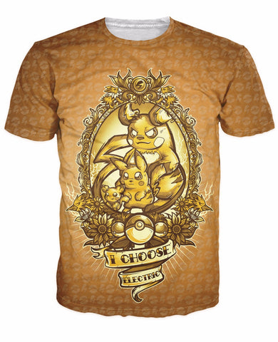 Fashion Clothing Women Men Choose Electric T-Shirt Pichu Pikachu And Raichu - minion.store