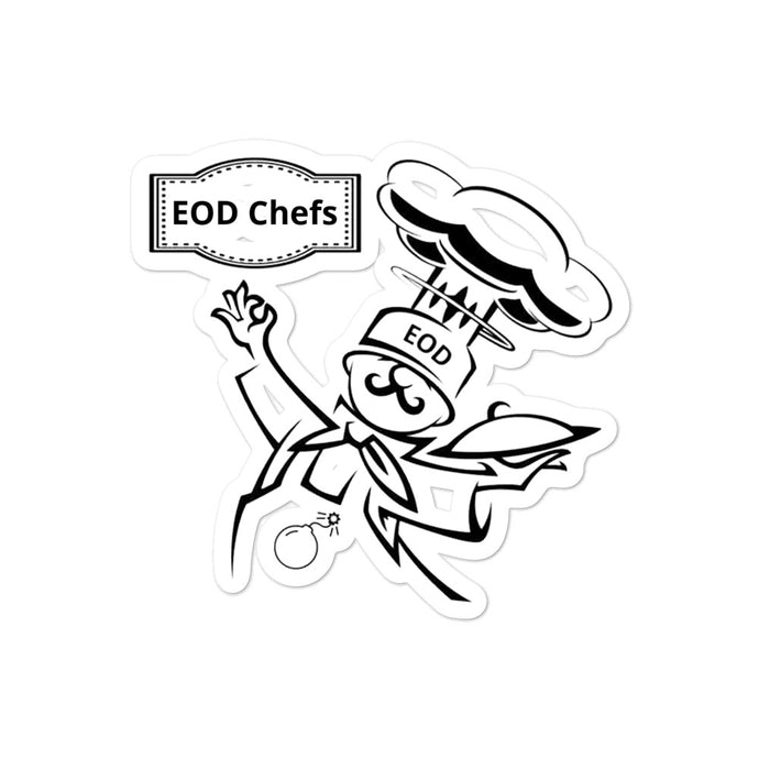 EOD Chef by Mark David  Bubble-free stickers