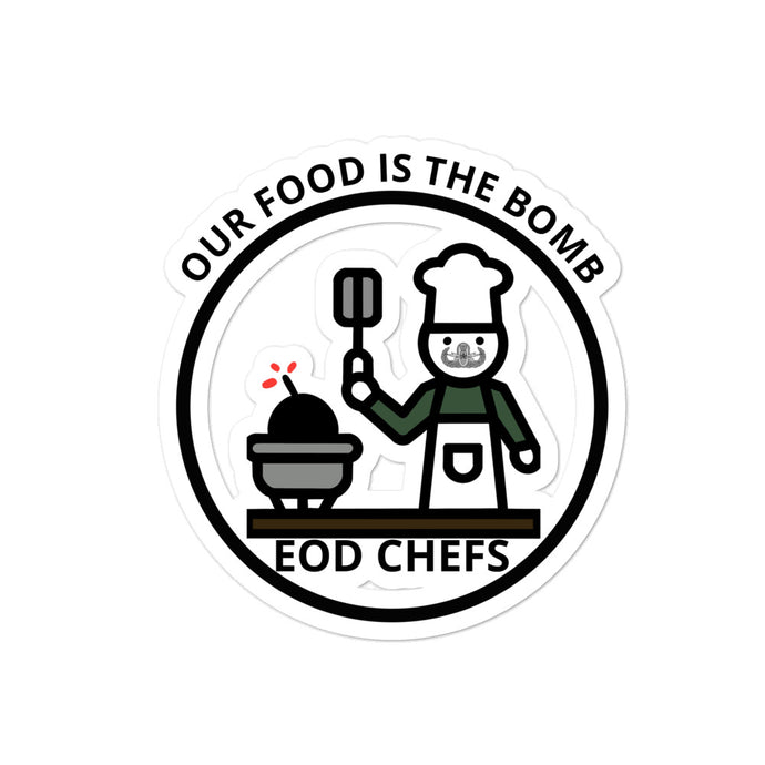 Food is the Bomb by Mikaela Narvaez Bubble-free stickers