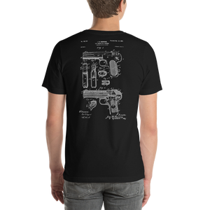 Browning 1899 Gas Operated Firearm Patent Dark T-Shirt