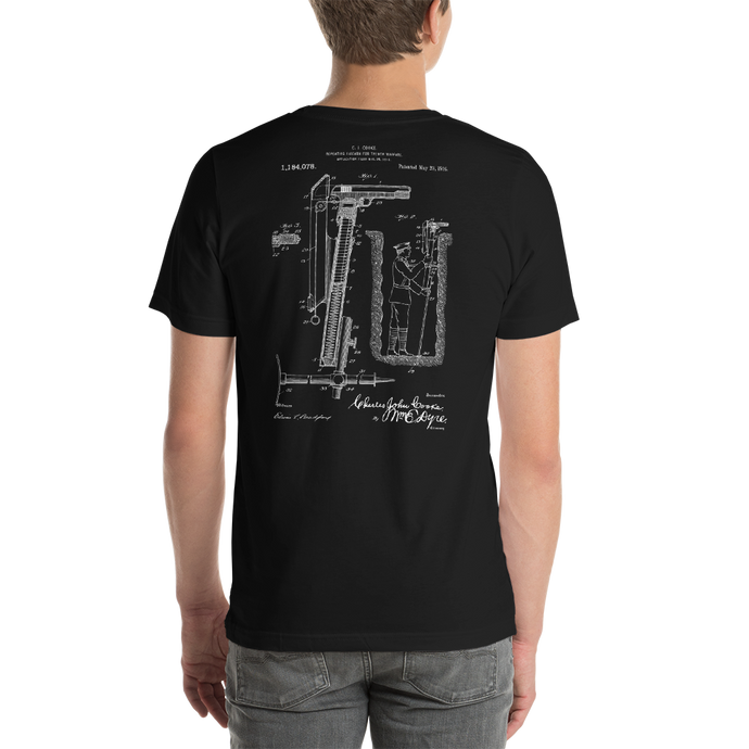 1916 Repeating Firearm for Trench Warfare Patent Dark T-Shirt