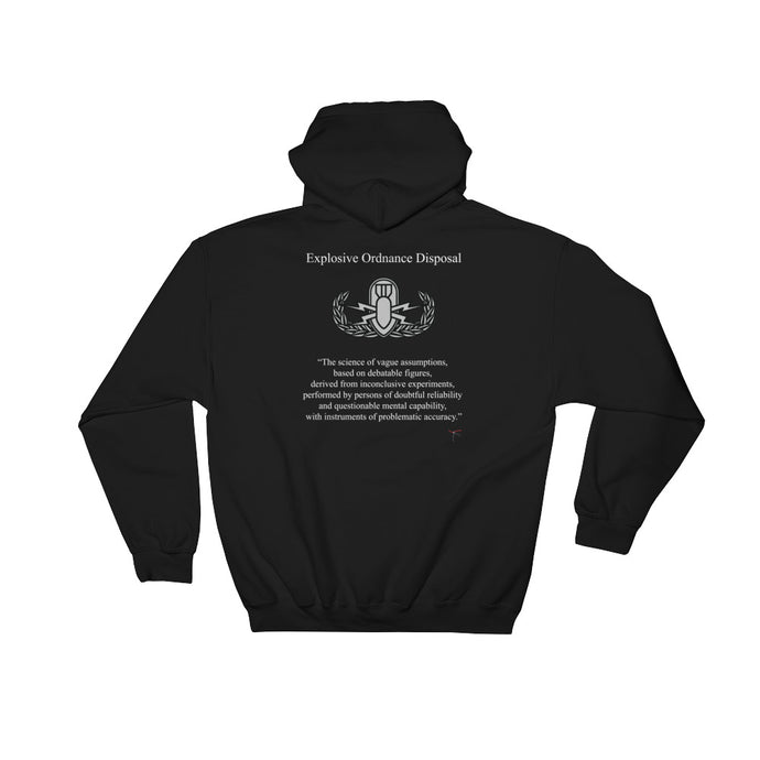 The Real Definition of EOD Dark Hooded Sweatshirt - Basic Badge
